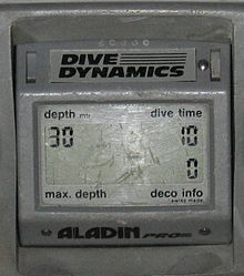 Close-up of the LCD display of an Aladin Pro