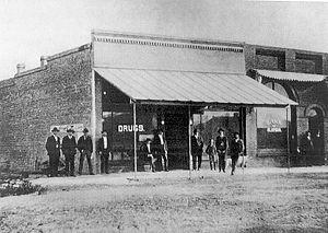 Alapaha, Georgia - Street scene in Alapaha, circa 1910