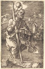 Saint Christopher Facing to the Right