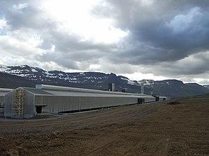 Economy of Iceland - Alcoa's aluminium plant in Reyðarfjörður, Iceland