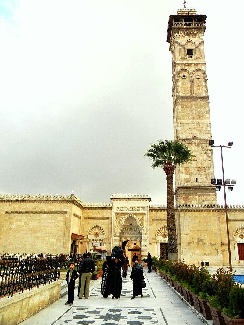 مئذنة جامع حلب الكبير في يناير 2011