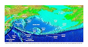 Bowers Ridge - Bering Sea features. Bowers Ridge is in the southern part of the Bering Sea.