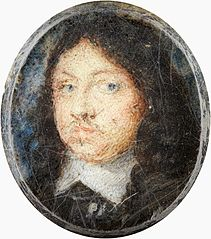 Miniature portrait of Charles X, King of Sweden 1655-1660