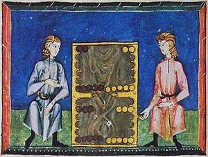 Backgammon - Todas tablas from the Libro de los juegos