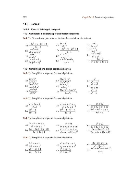 Semplificare frazioni algebriche online dating
