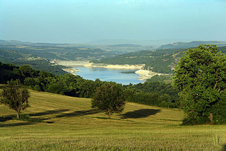 Algeti National Park - Landscape around the Algeti reservoir