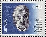 Algirdas Julien Greimas 2017 stamp of Lithuania.jpg