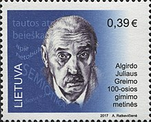 Algirdas Julien Greimas 2017 stamp of Lithuania.jpg