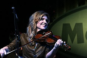 Bluegrass music - Multiple Grammy Award-winning bluegrass singer and fiddler Alison Krauss