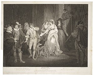 All's Well That Ends Well - A 1794 print of the final scene