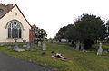 All Saints Theydon Garnon L810 east churchyard from southeast (Nikon L810).jpg