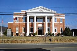 The Alleghany County Courthouse in Sparta is listed on the National Register of Historic Places.