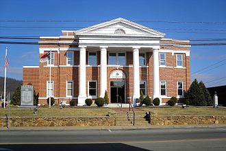 Alleghany County, North Carolina - Image: Alleghany County Courthouse Sparta NC