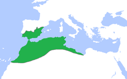 Location of الموحدون