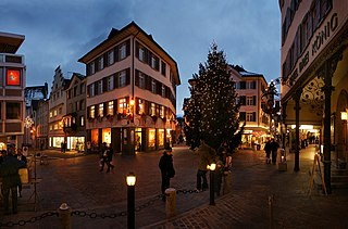 Altstätten Place in St. Gallen, Switzerland