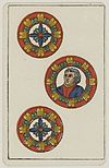 Aluette card deck - Grimaud - 1858-1890 - Three of Coins.jpg