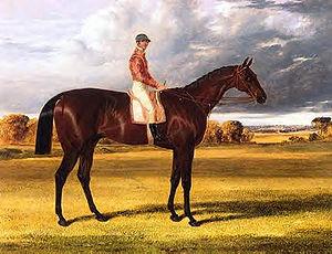 John Frederick Herring Sr. -  Painting of Amato winner of The Derby Stakes in 1838 by John Frederick Herring Sr.