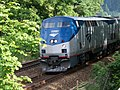 Amtrak Cascades train in Mukilteo, Washington.JPG