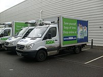 An ASDA Mercedes-Benz Sprinter delivery van.