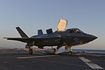 An F-35B aircraft takes off from the flight deck of USS Essex.jpg