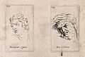 An outline of a face expressing acute pain (left); a face sh Wellcome V0009397.jpg