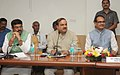 Ananthkumar along with the Minister of State (Independent Charge) for Petroleum and Natural Gas, Shri Dharmendra Pradhan and the Chief Minister of Madhya Pradesh, Shri Shivraj Singh Chouhan.jpg