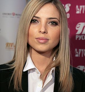 Serebro - Anastasia Karpova (inset), replaced Lizorkina for personal and financial reasons.