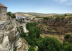 Alhama de Granada - View over the gorge of Río Alhama