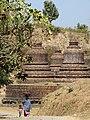 Andaw Paya with Passersby - Mrauk U (Myuhaung) - Arakan State - Myanmar (Burma) - 01 (12231495385).jpg
