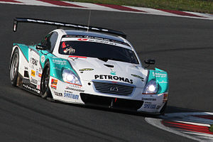 André Lotterer - Lotterer driving the Lexus SC430 for LEXUS TEAM PETRONAS TOM'S at the 2010 Super GT Fuji 400km race