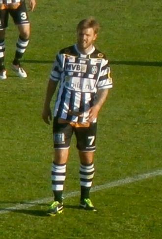 Andreas Dahl - Dahl playing for Landskrona BoIS in 2013.