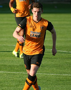 Andrew Robertson (footballer) - Robertson playing for Hull City in 2015