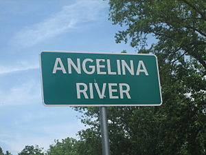 Angelina River - Angelina River Sign