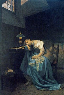 Angelo Trezzini - A Tired Seamstress.jpg