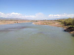 Angren River - Angren river in Okhangaron