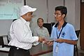 Anil Shrikrishna Manekar Presents Certificate to Venkatesh Surampally - Orientation cum Selection Camp for XXI International Astronomy Olympiad - NCSM - Kolkata 2016-05-17 3838.JPG