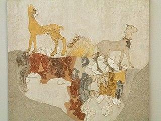Goats fresco from Akrotiri