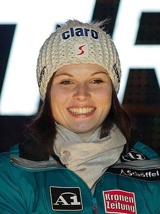 2013–14 FIS Alpine Ski World Cup - Image: Anna Fenninger Altenmarkt Zauchensee 2011
