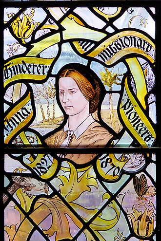 Liverpool Cathedral - The missionary Anna Hinderer is in one of the Lady Chapel windows