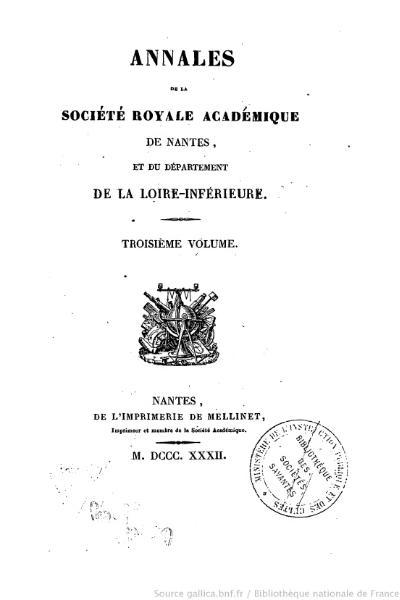 File:Annales de la société royale académique de Nantes et de la Loire-Inférieure, 3, 1832.djvu