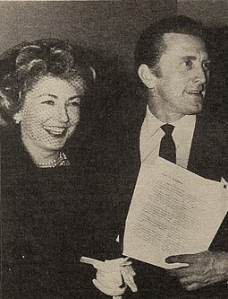 With Kirk Douglas in 1959 Anne Buydens and her husband Kirk Douglas, 1959.jpg