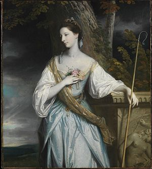 John Stewart, 7th Earl of Galloway - Portrait of his second wife, Anne Dashwood by Sir Joshua Reynolds in 1764, at The Metropolitan Museum of Art