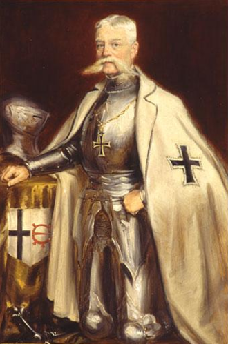 Bailiwick of Utrecht - Anne Willem Jacob Joost Baron van Nagell in the robes of the Landcommandeur of the Order