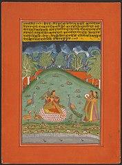 Ragini Gaund, Page from a Jaipur Ragamala Set