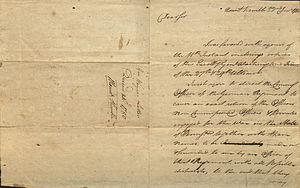 Anthony Wayne - Letter from Anthony Wayne to Israel Shreve, 1780