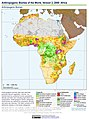 Anthropogenic Biomes of the World, Version 2, 2000 Africa (13604310084).jpg