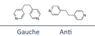 Coordination polymer - 1,2-Bis(4-pyridyl)ethane is a flexible ligand, which can exist in either gauche or anti conformations.