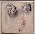 Antoine watteau, studio di due teste di bambino e mani, 1719-20 ca. (boijmans van beuningen).jpg