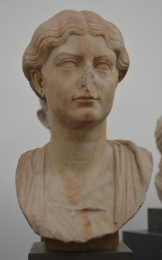 File:Antonia Minor (the youngest daughter to Octavia Minor and Mark Antony), found in Tralles ...