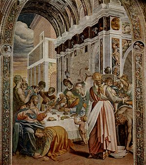 Antonio Campi - Fresco by Antonio Campi in the church of San Sigismondo in Cremona.